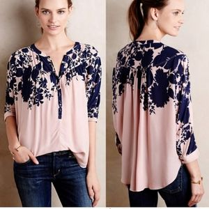 Anthropologie Linden Floral Batwing Blouse!